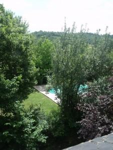 Gite La Mothe piscine depuis maison